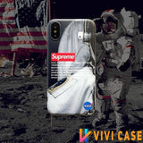 NASA x Supreme Style Silicone Shockproof Protective Designer iPhone Case For SE 11 Pro Max X XS XR 7 8 Plus