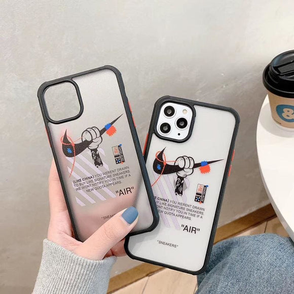 Nike x Mickey Mouse Style Tempered Glass Shockproof Protective Designer iPhone Case For 12 SE 11 Pro Max X XS XR 7 8 Plus - IPhone