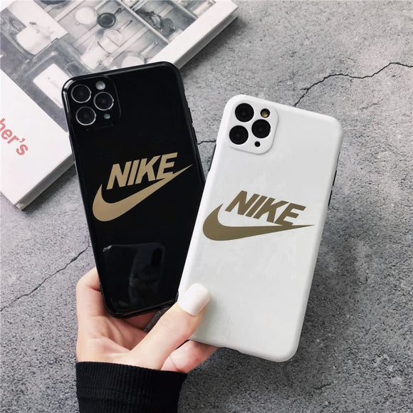 Nike Style Electroplating Glossy TPU Silicone Designer iPhone Case For 12 SE 11 Pro Max X XS XR 7 8 Plus - IPhone