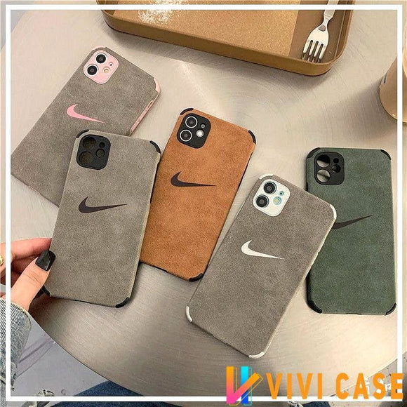 Nike Style flannel Protective Designer Iphone Case For 12 Pro Max Mini