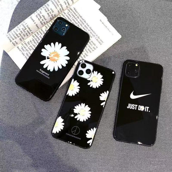 Nike Style Glossy Shockproof Protective Designer iPhone Case For 12 SE 11 Pro Max X XS XR 7 8 Plus - IPhone