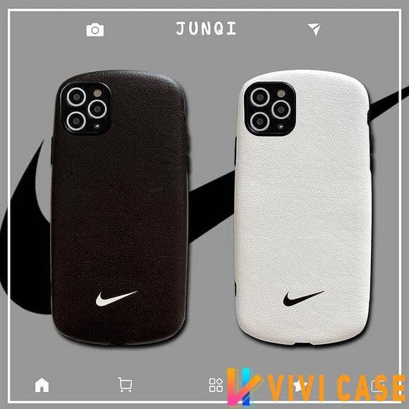 Nike Style sheepskin Protective Designer Iphone Case For 12 Pro Max Mini