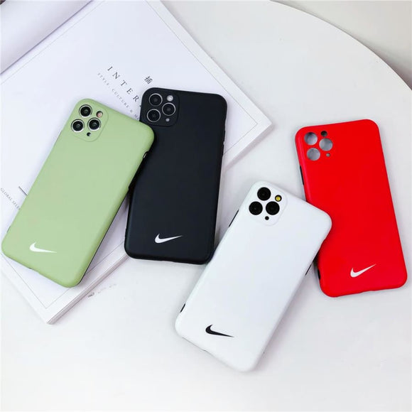 Nike Style Silicone Designer iPhone Case For 12 SE X XS Max XR 7 8 Plus - IPhone