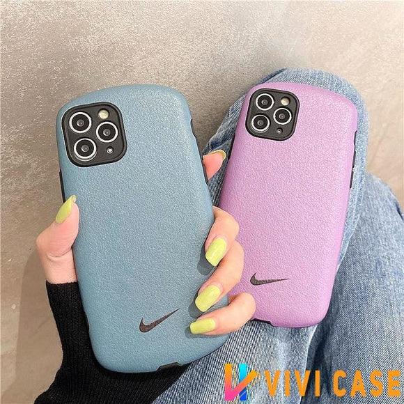 Nike Style silk Protective Designer Iphone Case For 12 Pro Max Mini