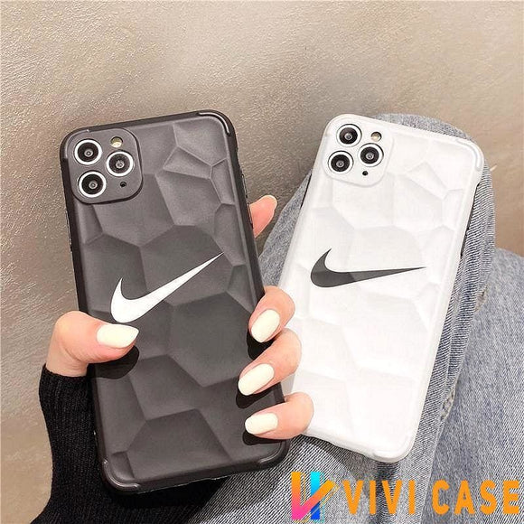 Nike Style Soft glue Protective Designer Iphone Case For 12 Pro Max Mini
