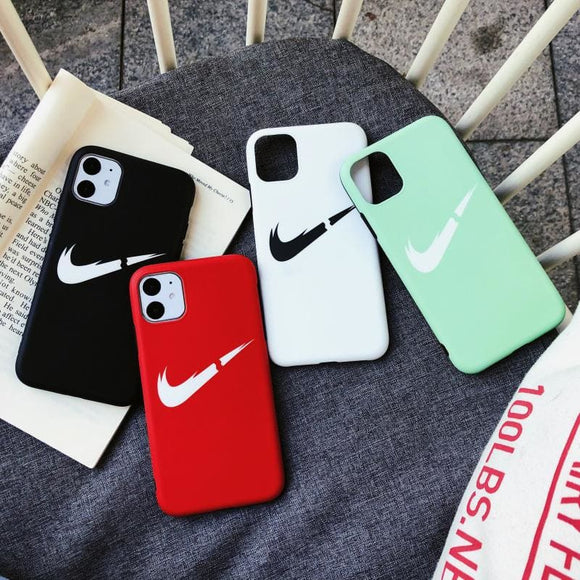 Nike Style Swoosh Silicone Designer iPhone Case For 12 SE X XS Max XR 7 8 Plus - IPhone