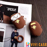 Retro Bape Style 3D Street Fashion Silicone Protective Shockproof Case For Apple Airpods 1 & 2 - AirPods