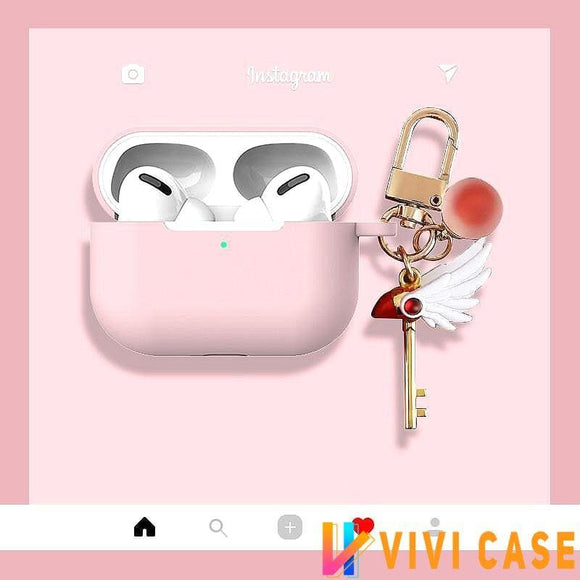 Sailor Moon Style Silicone Protective Case For Apple Airpods Pro - Pink - AirPods