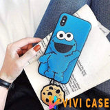 iPhone Case 1 / for iphone 7 Sesame Street Elmo Leather Airbag Shockproof Designer iPhone Case