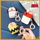 Snoopy Style Charles Silicone Protective Shockproof Case For Apple Airpods 1 & 2 - AirPods