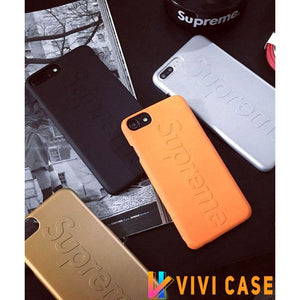 Supreme Style Modern Silicone Shockproof Protective Designer iPhone Case For SE 11 Pro Max X XS XR 7 8 Plus - Gold / (2nd Gen)