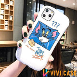 Tom And Jerry Style Round Coner Silicone Shockproof Protective Designer iPhone Case For SE 11 Pro Max X XS XR 7 8 Plus - (2nd Gen)