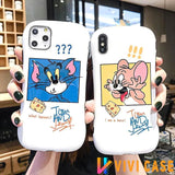 Tom And Jerry Style Round Coner Silicone Shockproof Protective Designer iPhone Case For SE 11 Pro Max X XS XR 7 8 Plus