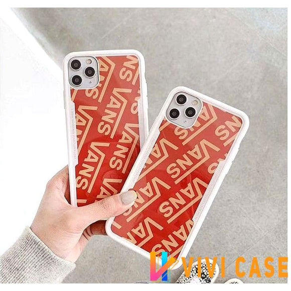 Vans Style Bumper Silicone Protective Designer iPhone Case For SE 11 Pro Max X XS XR 7 8 Plus