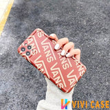 Vans Style Classic Silicone Matte Protective Designer iPhone Case For SE 11 Pro Max X XS XR 7 8 Plus