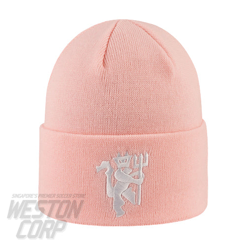 Manchester United Vertical Wordmark Pink Cuff Knit