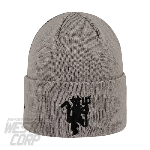 Manchester United Vertical Wordmark Grey Cuff Knit