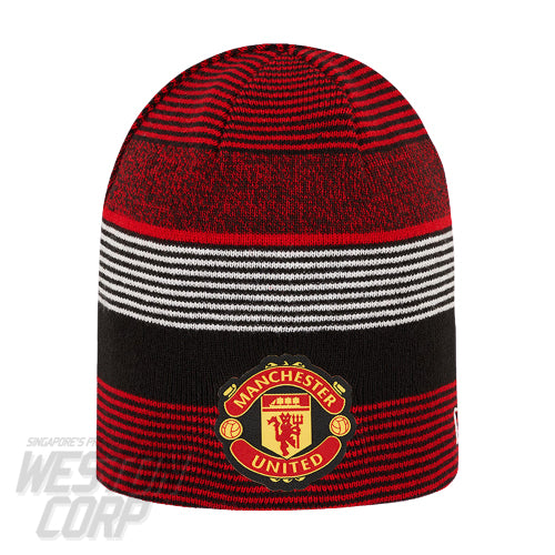 Manchester United Striped Reversible Red Cuff Knit