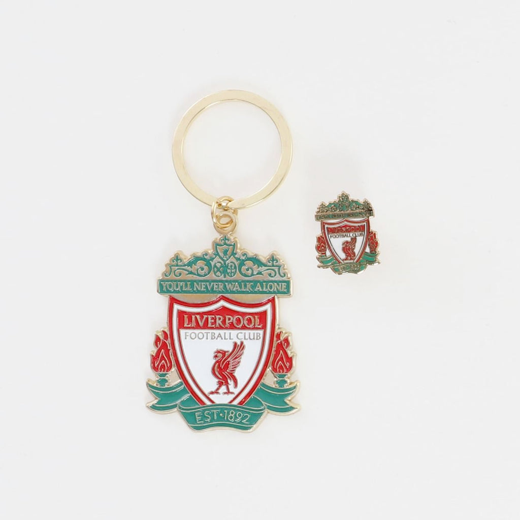 LFC Crest Badge & Keyring Set