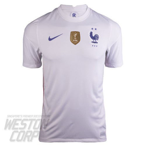 FRANCE ADULT 2020-21 SS AWAY STADIUM JERSEY W- WORLD CUP 2018 WINNERS BADGE