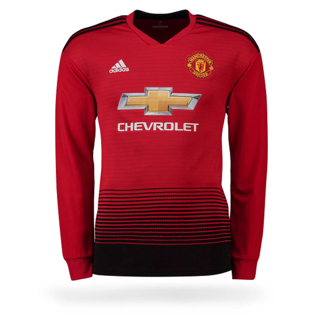 Manchester United Adult 2018-19 L-S Home Shirt