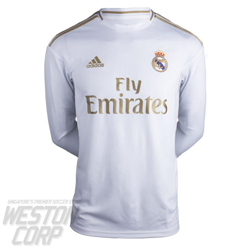Real Madrid Adult 2019-20 LS Home Shirt