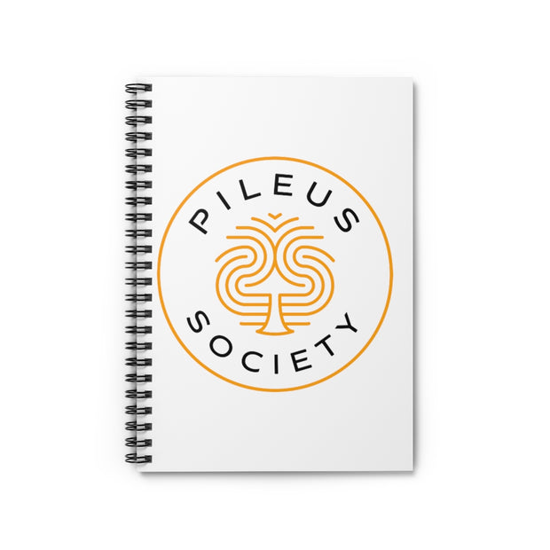 Pileus Society Logo Classic Spiral Ruled White Paper Notebook
