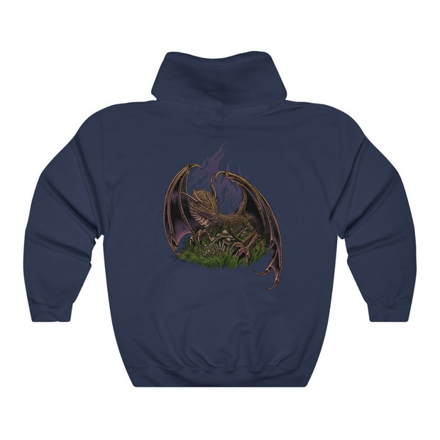Dragon Protecting Treasure Unisex Heavy Blend™ Hooded Sweatshirt
