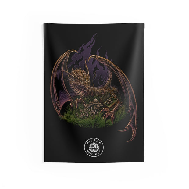 Pileus Society Protecting The Treasure Home Decor Black Tapestry