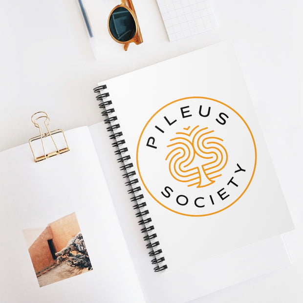 Pileus Society Logo Spiral Notebook - Ruled Line