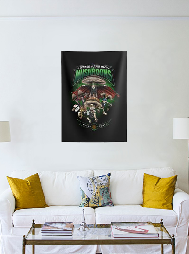 Teenage Mutant Magic Mushrooms Wall Tapestry
