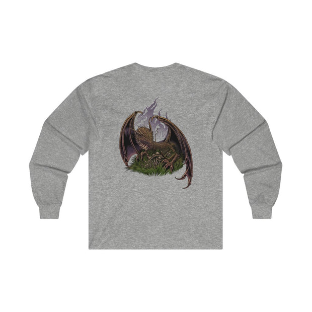 Pileus Society Dragon Protecting Treasure Ultra Cotton Long Sleeve Tee
