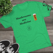 Mushrooms are Medicine Men's Tri-Blend Crew Tee