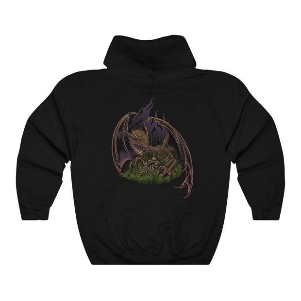 Pileus Society Dragon Unisex Heavy Blend Crewneck Hooded Sweatshirt