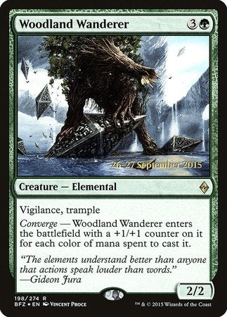 Woodland Wanderer [Battle for Zendikar Promos] | The Hall of Heroes