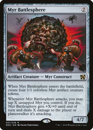 Myr Battlesphere [Duel Decks: Elves vs. Inventors]