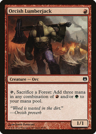 Orcish Lumberjack [Duel Decks: Heroes vs. Monsters]