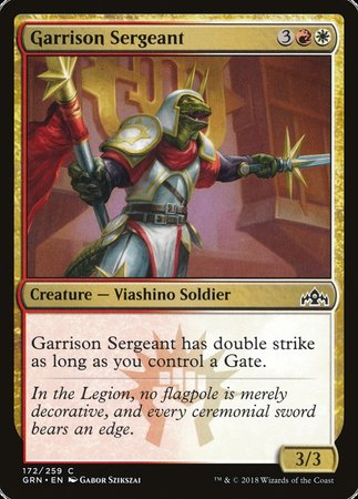 Garrison Sergeant [Guilds of Ravnica] | The Hall of Heroes