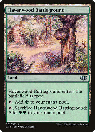 Havenwood Battleground [Commander 2014] | The Hall of Heroes