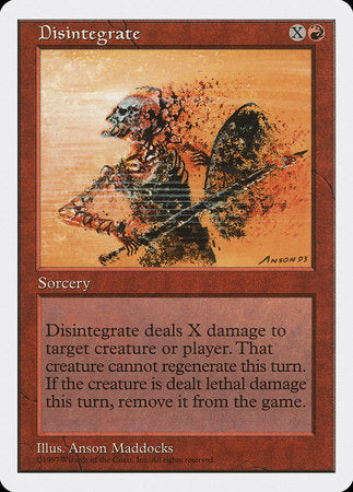 Disintegrate [Fifth Edition]