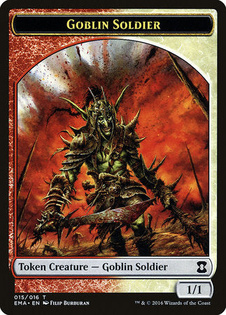 Goblin Soldier Token [Eternal Masters Tokens] | The Hall of Heroes