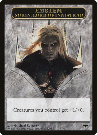 Emblem - Sorin, Lord of Innistrad [Dark Ascension Tokens] | The Hall of Heroes