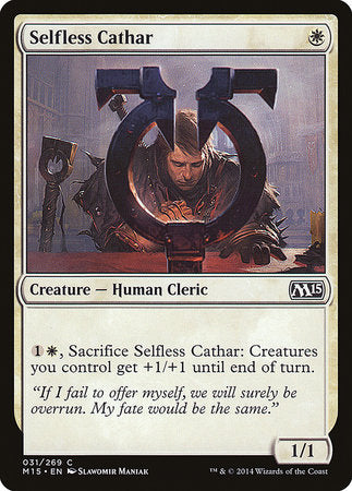 Selfless Cathar [Magic 2015] | The Hall of Heroes