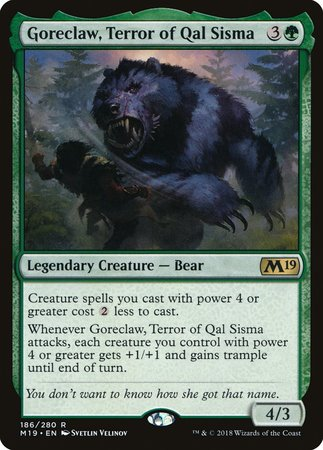 Goreclaw, Terror of Qal Sisma [Core Set 2019] | The Hall of Heroes