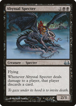 Abyssal Specter [Duel Decks: Divine vs. Demonic] | The Hall of Heroes