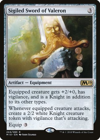 Sigiled Sword of Valeron [Core Set 2019] | The Hall of Heroes