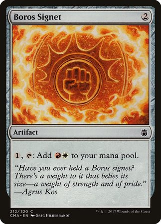 Boros Signet [Commander Anthology] | The Hall of Heroes
