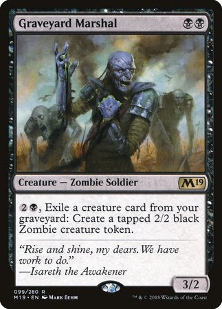 Graveyard Marshal [Core Set 2019] | The Hall of Heroes