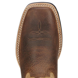 "ARIAT Mens Quickdraw "" Wide Square Toe Western Boots"""