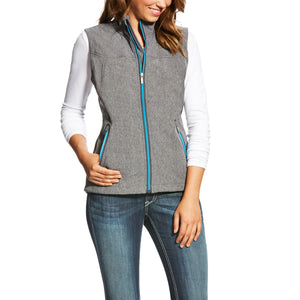 ARIAT Women's New Team Softshell Vest – Charcoal